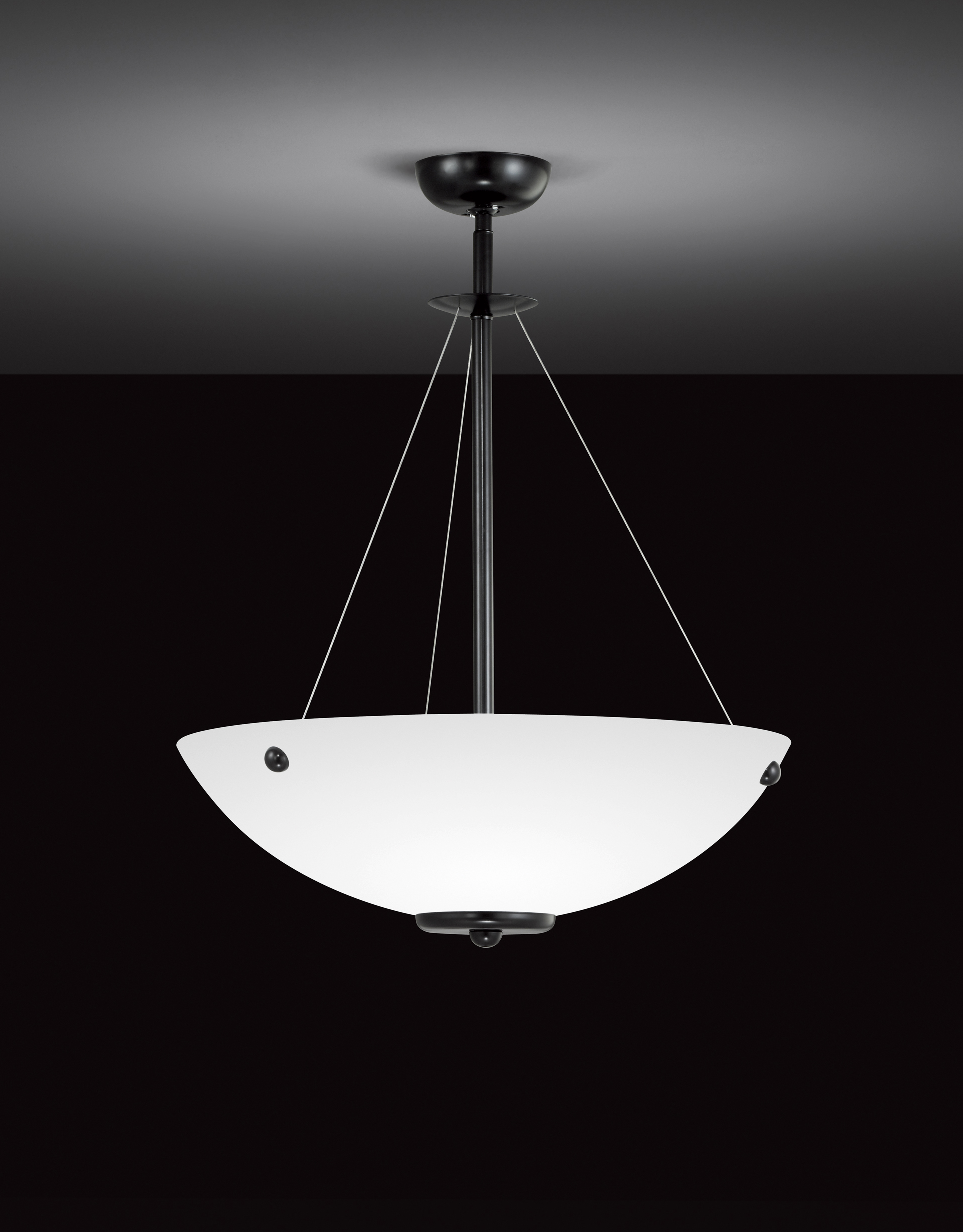 pendant smoke light orion in black